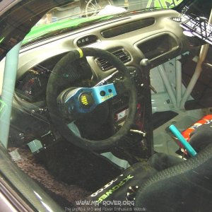 Interior of the Rally Car