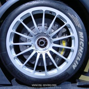 Front brakes on the MG Lola EX257 Lemans Car