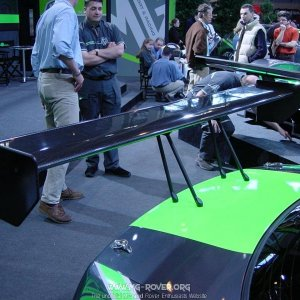 Rear wing on the MG ZS EX259 BTCC Car