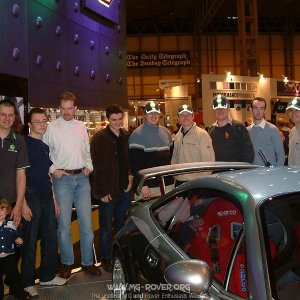 The MG-Rover.org Crowd around the MG SV