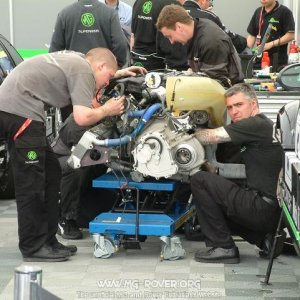 Work continues on Warren's engine to get it ready in time