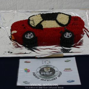 MGF Cake supplied by Dave Morris