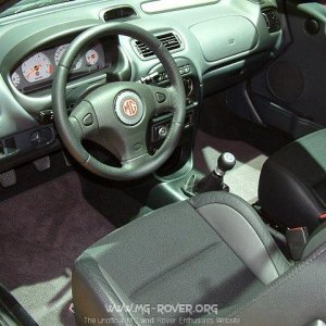 MG ZR Interior