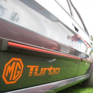 1985 MG Montego Turbo decals / stickers