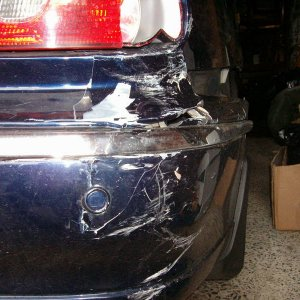 Rear  bumper damage