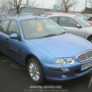 Rover 25 in Oxygen Blue