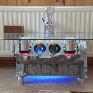 For Sale. Rover V8 Engine Block Coffee Table