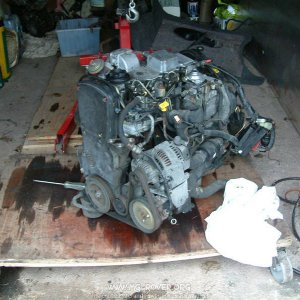 Engine ready to strip!