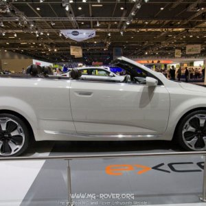 Kia's Ex-cee'd, a convertible version of the Kia Cee'd