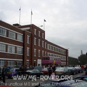 East Works offices - Longbridge Rally 2006