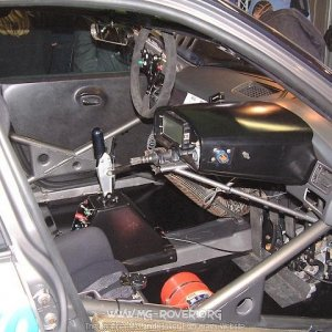 Inside the MG EX260 Touring Car