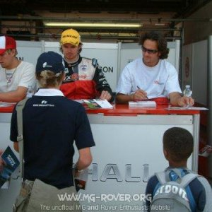 Autographs at Brands Hatch August 2004