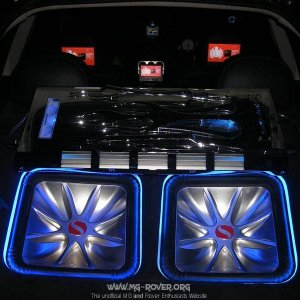 Two kicker l5s subs,audio bahn amp,mtx 6.5 speakers,mtx amp and head rest t