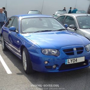 Phil's MG ZT 120+ in Trophy Blue
