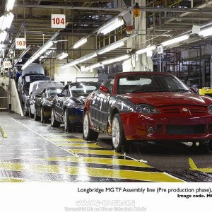Longbridge MG TF Assembly Line (Pre production phase), May 2007