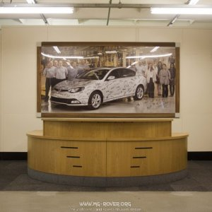 Reception desk for the assembly hall at MG Birmingham